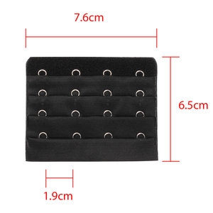 Four-row four-button underwear accessories stainless steel non-magnetic back buckle does not fade
